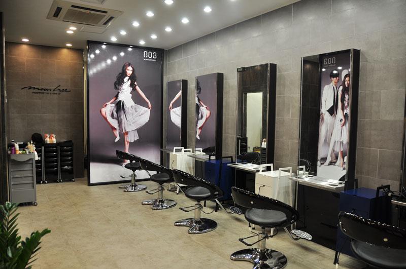 thiết kế tiệm tóc