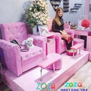 Ghế Nail màu hồng