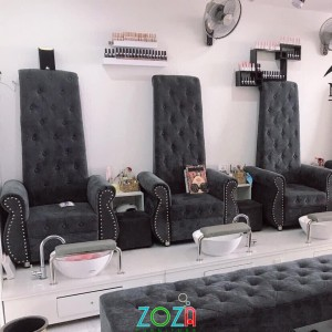 Ghế Nail màu đen