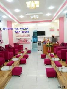 ghế nail hồng mẫu 030